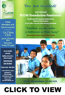 ECOM Foundation 2018 Annual Fundraiser Invite